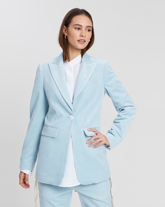 White Story Slim Tailored One-Button Jacket