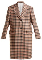 Calvin Klein 205w39nyc - Oversized Checked Wool Coat - Womens - Red Multi
