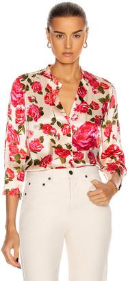 L'Agence Aoki 3/4 Sleeve Blouse in Dawn & Rosewood | FWRD
