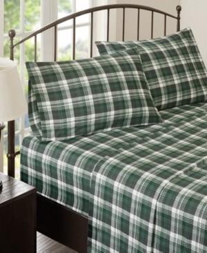 Woolrich Cotton Flannel 4-Piece King Sheet Set Bedding