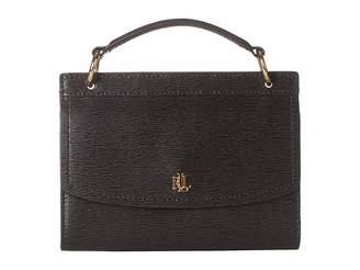Lauren Ralph Lauren Saffiano Top-Handle Belt Bag (Black) Bags