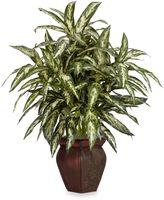 Bed Bath & Beyond Nearly Natural Aglaonema w/ Decorative Vase Silk Plant