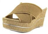 Donald J Pliner Dani 2 Open Toe Canvas Wedge Sandal.