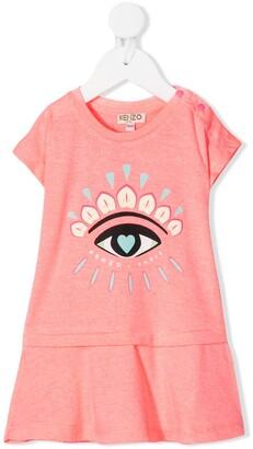 Kenzo Eye Print Dress