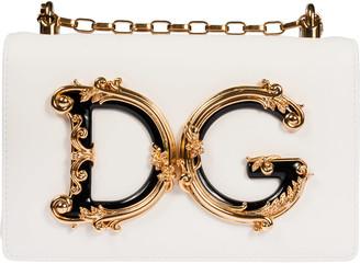 Dolce & Gabbana Front Logo Plaque Chain Strap Shoulder Bag