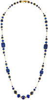 Jose & Maria Barrera Long Sodalite, Jade & Glass Beaded Necklace