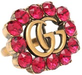 Gucci Double G crystal-embellished ring