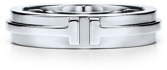 Tiffany & Co. & Co. T Two narrow ring in 18k white gold - Size 6 1/2