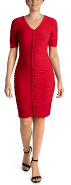 Julia Jordan Ruched Bodycon Dress