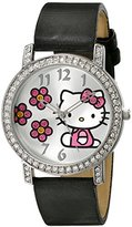 Hello Kitty Girl's HK1518J Analog Display Quartz Black Watch
