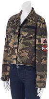 Juniors' Cloudchaser Patches Camo Crop Jacket