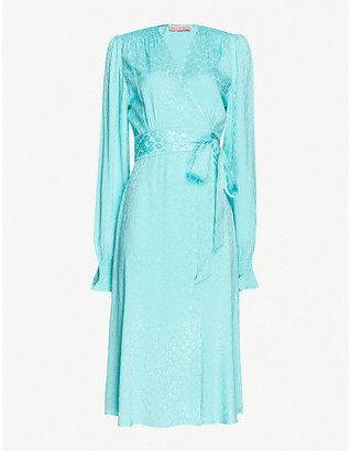 Kitri Claire floral print midi wrap dress