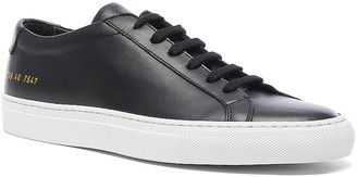 Common Projects Original Leather Achilles Low in Black | FWRD