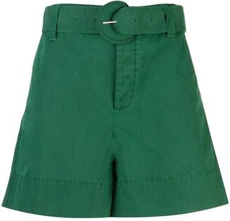 Proenza Schouler White Label Belted Wide-Leg Shorts
