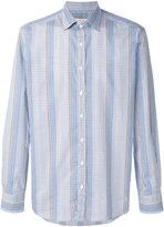 Etro striped check shirt