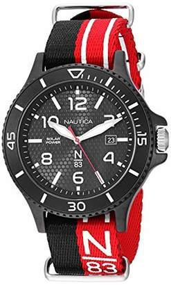 Nautica N83 Men's NAPCBS901 Cocoa Beach Solar Fabric Slip-Thru Strap Watch