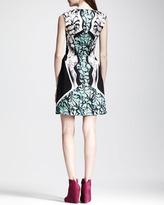 Peter Pilotto Printed A-Line Silk Dress