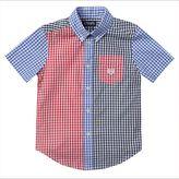 Chaps Boys 4-7 Mixed Gingham Plaid Short Sleeve Shirt