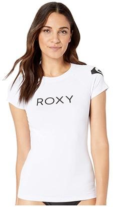 Roxy Surf Cap Sleeve Rashguard (Bright White) Women's Swimwear