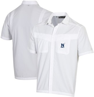 Navy Midshipmen Under Armour Tide Chaser Performance Button-Up Shirt White