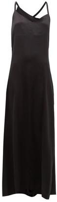 Hillier Bartley Fringed Silk-charmeuse Slip Dress - Womens - Black