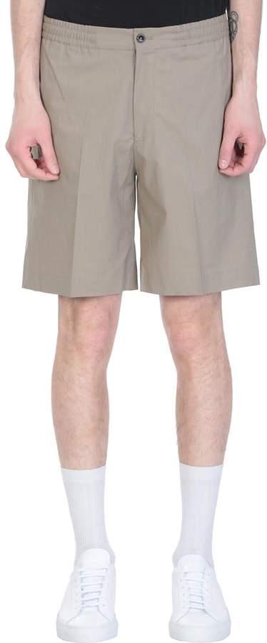 Pt01 Beige Cotton Bermuda Shorts