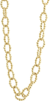 Lagos Caviar Large Fluted Oval Link Necklace, 18""