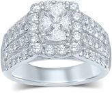 JCPenney MODERN BRIDE 3 CT. T.W. Fancy-Cut Diamond 14K White Gold Ring