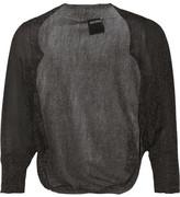 Anna Sui Metallic Open-Knit Shrug