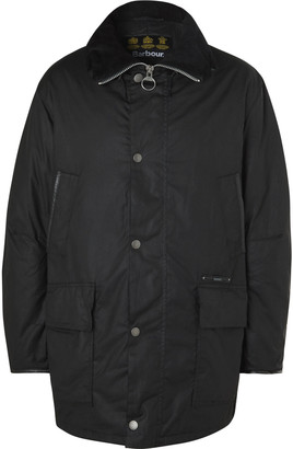 Barbour Gold Standard Supa-Border Padded Waxed-Cotton Jacket