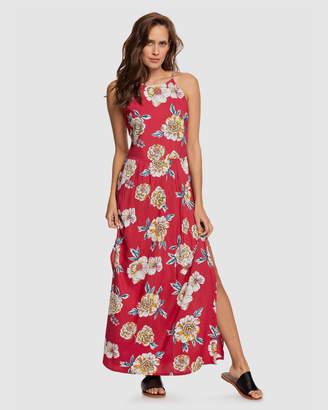 Roxy Womens Capri Sunset Strappy Maxi Dress