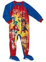 Nickelodeon Paw Patrol Team Baby Boys Toddler footed Blanket Sleeper Pajama (t)