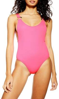 Topshop Ring Strap One-Piece Swimsuit