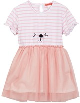 Funkyberry Puppy Tulle Dress (Toddler & Little Girls)