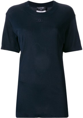 Chanel Pre-Owned embroidered CC T-shirt