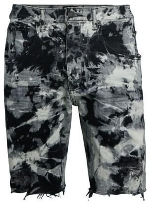 Purple Brand Marble Bleach Shorts