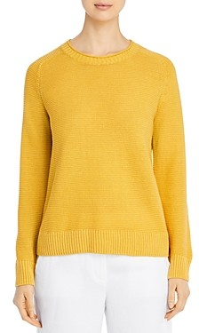 Eileen Fisher Petites Organic Linen & Cotton Crewneck Sweater