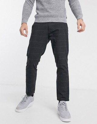 Esprit window check trousers in grey