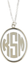 Moon and Lola Vineyard Extra Large Acrylic Block Monogram Pendant Necklace