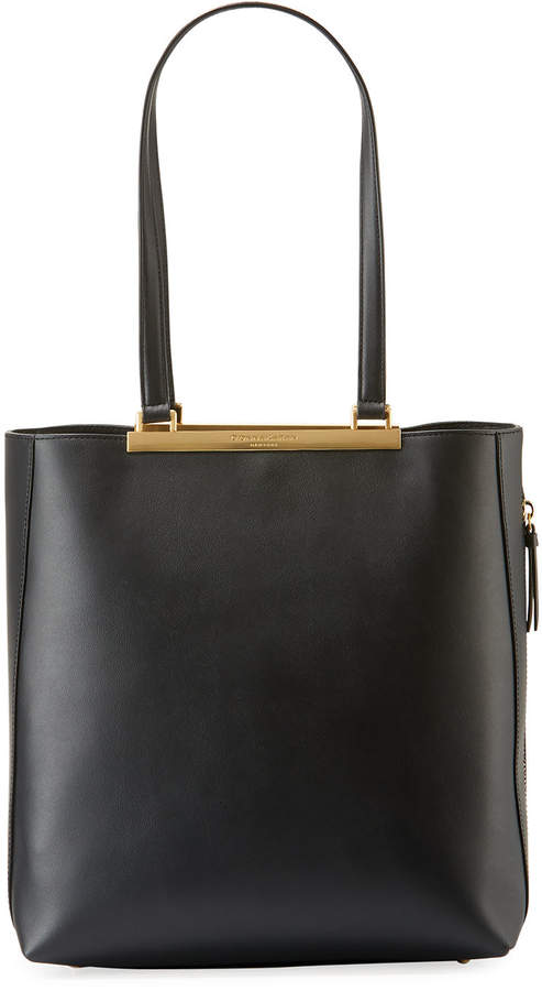 Donna Karan Mally North/South Leather Tote Bag
