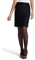 White House Black Market Black Satin Tiered Pencil Skirt