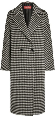 Max Mara Alpaca-Wool Check Coat