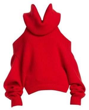 Monse Upside Down Cashmere Turtleneck Sweater