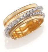 Marco Bicego Marrakech Diamond & 18K Yellow Gold Five-Strand Ring