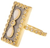 Freida Rothman Mother of Pearl Eternity Ring