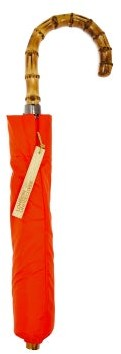 London Undercover Whangee-handle Telescopic Umbrella - Mens - Orange
