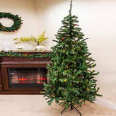 Asstd National Brand 7.5' Pre-Lit Traditional Mixed Pine Artificial Christmas Tree with Multi-Color Lights