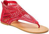 Star Bay Women's Sandals Red - Red Cutout Gladiator Sandal - Women