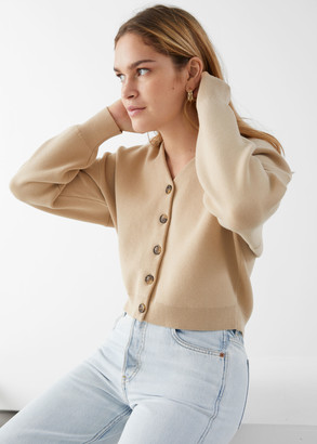 And other stories Boxy Plunging V-Cut Cardigan