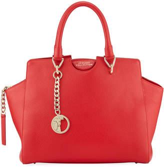 Versace Leather Top-Handle Satchel Bag
